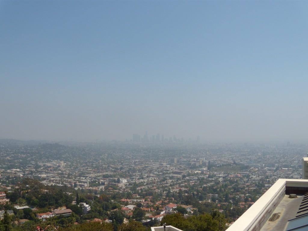 Вид на Лос Анжелес с обсерватории Гриффита